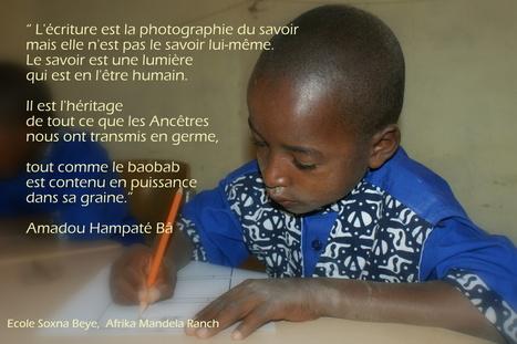 L'écriture - S'il vous plaît, dessine-moi  une école... | Fondation Sylla Caap | Scoop.it
