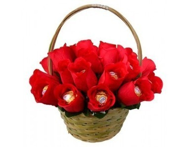 Ferrero Rocher Basket | 12 Red Roses N 2kg Fruit Basket | Scoop.it