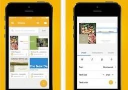 Google met à jour la suite Drive pour iPhone et iPad avec Slides - Les Outils Google | Les outils du Web 2.0 | Scoop.it