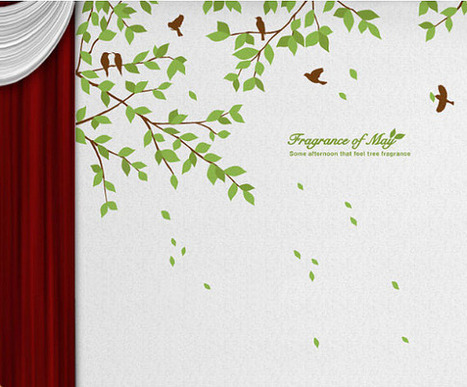 Fragrance Of May Branches with Birds Wall Sticker – WallStickerDeal.com   Birds & Animals Wall Stickers   Scoop.it