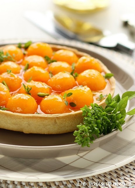 Tarte de Melon au Chèvre Frais | Accords Mets & Vins - Muscat de Beaumes de Venise | Scoop.it