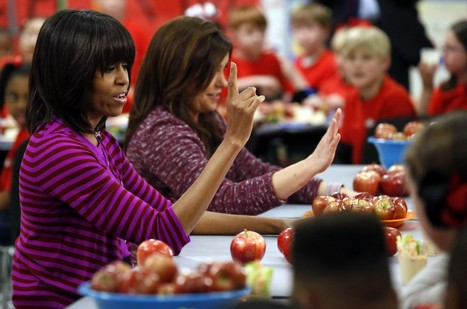 First lady gets moving against weakening school lunch law | Upsetment | Scoop.it