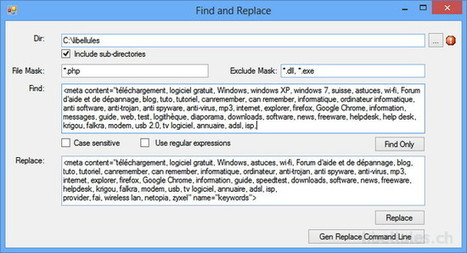 Find And Replace Tool - Le blog de libellules.ch | Geeks | Scoop.it