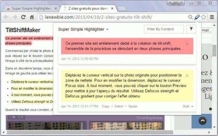 Surligner un passage d'une page web sur Chrome   Le Newbie   TIC et TICE mais... en français   Scoop.it