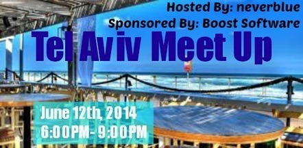 Boost Affiliates Senior Sales Manager To Attend And Co-Sponsor Tel Aviv Meet Up   PC Health Boost   Scoop.it