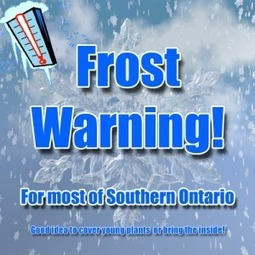 Frost Warning issued for Monday May 13, 2013 | Major Twister (dot) com | Tornado | Scoop.it
