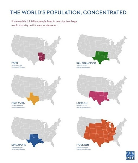 Per Square Mile: If the world's population lived like… | Digital Cartography | Scoop.it