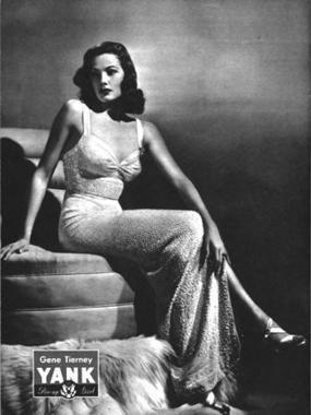 Yank Pin UP Gene Tierney: May 25, 1945 ... - WWII Army Dog Tags | WW2 Bomber - Nose Art | Scoop.it