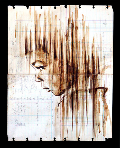 Michael Aaaron Williams Paints Portraits With Coffee on Old Ledger Paper | Best Urban Art | Scoop.it