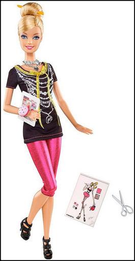 Barbie's 2012 Career: Fashion Designer   GlamChic   Les choix de Charlotte, 9 ans   Scoop.it