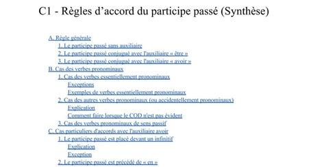 C1 - Règles d'accord du participe passé (synthèse) | FLE: LANGUE-CULTURE ET CIVILISATION-DIDACTIQUE | Scoop.it