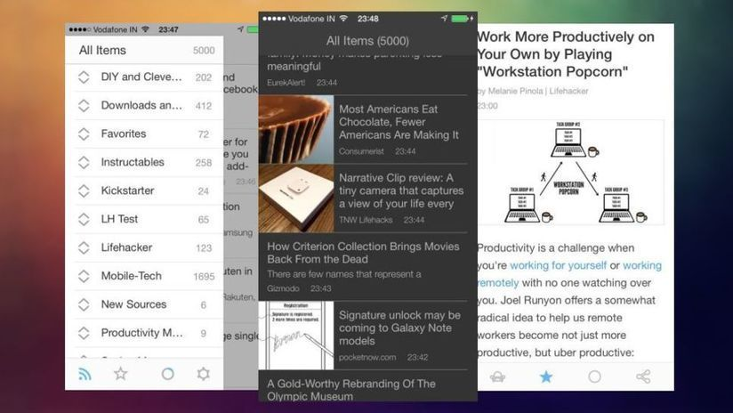 Ziner is a Gorgeous Free News Reader that Syncs...