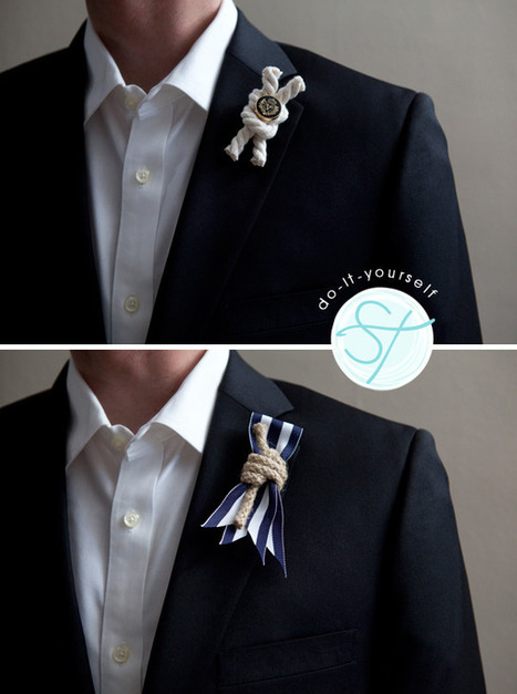 DIY | nautical rope boutonnieres | All About Beach Weddings | Scoop.it