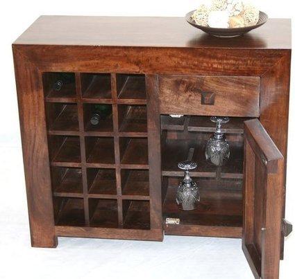 Beautiful Dark Shade Dakota Sideboard with Wine Rack | Home Accessories ! | Scoop.it