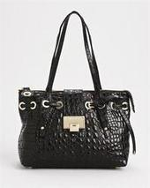 shop for Jimmy Choo LU Crocodile Tote Bag, 9/10 Condition on leftbankfashions.com | Ebay,Etsy,Amazon | Scoop.it