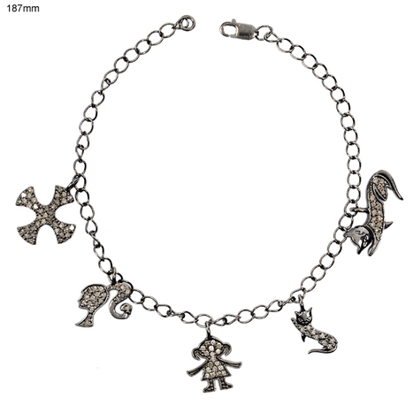 Diamond Charms Link Bracelet | Diamond Jewelry | GemcoDesigns | Pave Diamond Bracelets | Diamond Jewelry | GemcoDesigns | Scoop.it