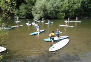 Sainte-Eulalie-d'Olt. Le stand up paddle prend de l'ampleur | L'info tourisme en Aveyron | Scoop.it