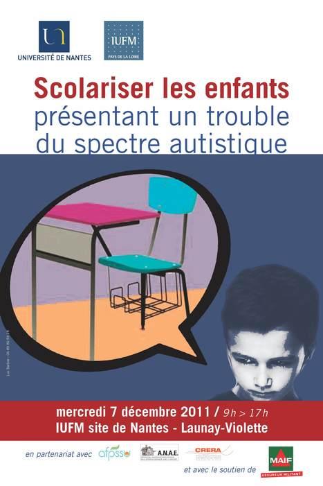Scolariser les élèves présentant un trouble du spectre autistique - 7 décembre 2011 | Autisme actu | Scoop.it
