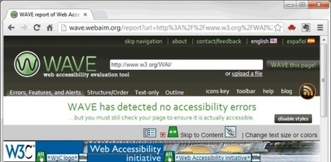 Easy Checks - A First Review of Web Accessibility | Design for All | Scoop.it