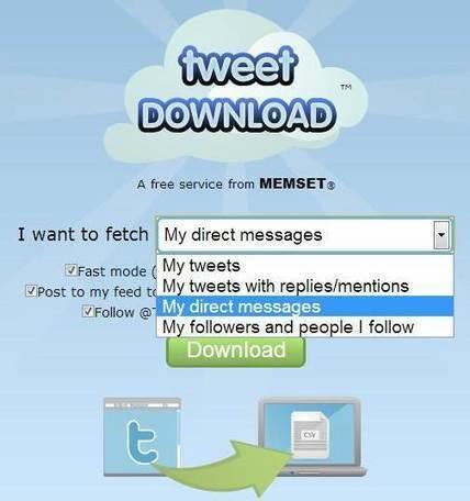 Télécharger ses tweets et sa liste de followers, Tweet Download | TICE, Web 2.0, logiciels libres | Scoop.it