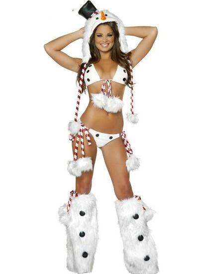 $34.59  Sexy Christmas Adult Snowman Bikini Costume Set | micro bikini | Scoop.it