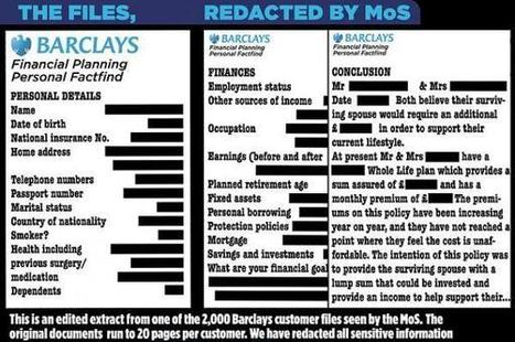 Barclays' Busted For Stealing, Selling Confidential Financial Data Of Thousands Of Clients | Zero Hedge | News | Scoop.it