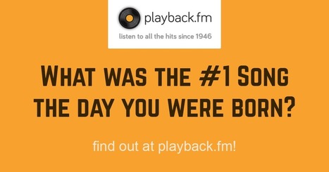 Playback.fm | #1 Song On Your Birthday | Xposed | Scoop.it