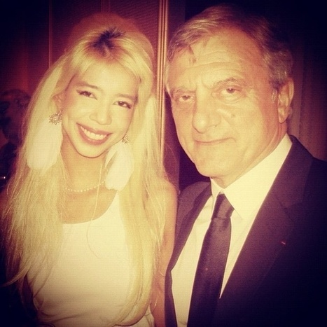 Président of Dior Couture Sidney Toledano with model Vanessa Modely... New egérie of Dior? | SUPERMODEL VANESSA MODELY FANS ! | Scoop.it