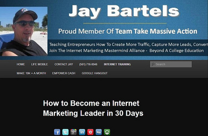 Promote4you: How to Become an Internet Marketing Leader in 30 Days Ask Jay Bartels | Promote4you | Scoop.it