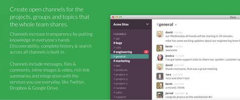 @SlackHQ: Be less busy | Emerging Digital Workflows [ @zbutcher ] | Scoop.it
