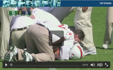 'Horrific Injury To Miami Hurricanes' Malcolm Lewis Prompts A Surprisingly Tender, Touching College Football Moment' (VIDEO) | The U | Scoop.it