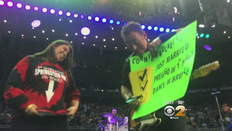 Glory Days : Pregnant Fan Dances On Stage With Bruce Springsteen - CBS | Bruce Springsteen | Scoop.it