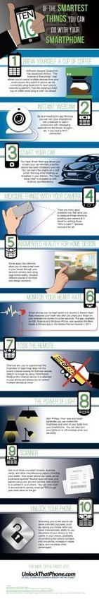 10 Smart Things To Do With Your Smartphone - Infographic | Social Media Marketing | Scoop.it
