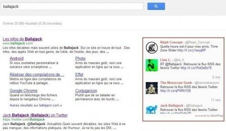 Afficher les tweets dans une recherche Google | Ballajack | François MAGNAN  Formateur Consultant | Scoop.it