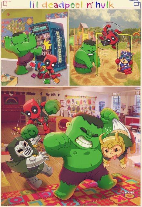 The Adventures of Lil Deadpool 'n Hulk | All Geeks | Scoop.it
