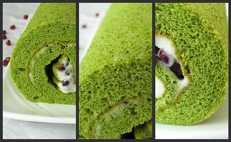 Nasi Lemak Lover: Green tea Swiss roll (with red bean and Mascarpone cheese) | Candy Buffet Weddings, Events, Food Station Buffets and Tea Parties | Scoop.it
