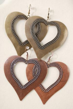 Antique Heart Earrings   Women's fashion and accessories   Scoop.it