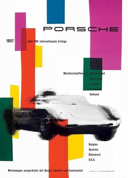 Posters de course Porsche des années 50 - | autopedia | Scoop.it