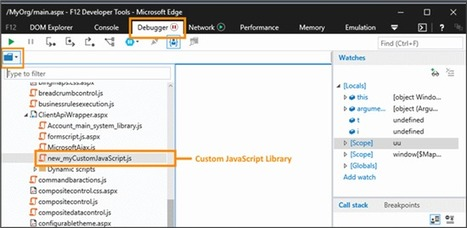 Debugging custom JavaScript code in CRM using browser developer tools | Microsoft Dynamics CRM | Scoop.it