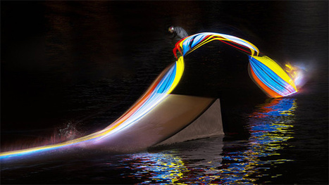 Riding On An LED: Light Painting And Wakeboarding Combine In This Experimental Photoshoot | The Creators Project | Wake park | Scoop.it