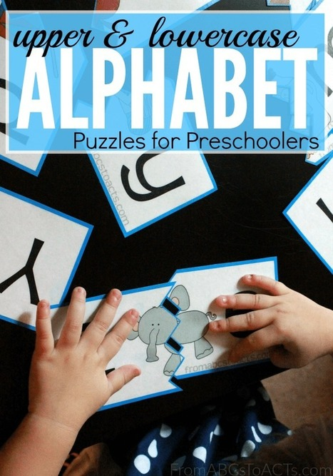 Printable Upper and Lowercase Alphabet Puzzles | From ABCs to ACTs | Professional Learning for Busy Educators | Scoop.it