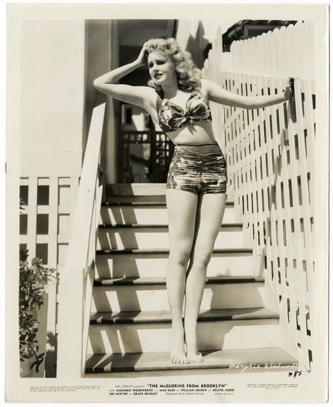 An original 1942 photograph of the pretty blonde actress Marjorie Woodworth | Sex History | Scoop.it
