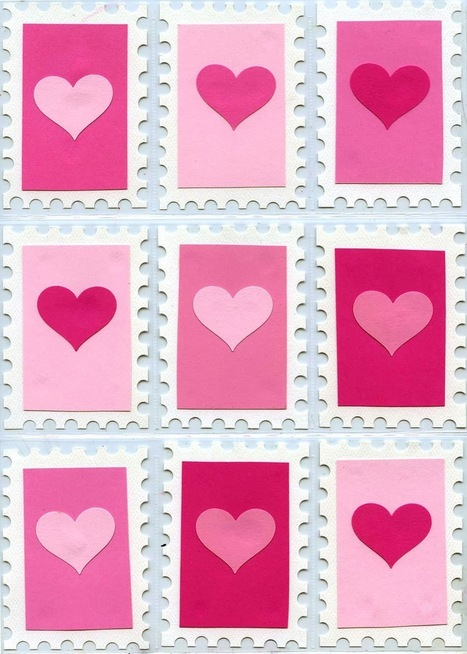 Art Projects for Kids: Valentine Stamp Art Trading Cards | Art Education | Scoop.it