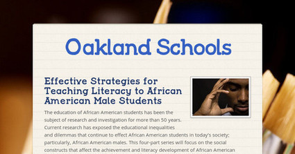 Professional Learning:  Effective Strategies for Teaching Literacy to African American Male Students | Culturally Responsive Schools and Classrooms | Scoop.it