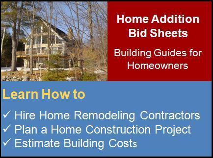 Home Addition Bid Sheets | Contractor Bid Sheets | Home Building Checklist | Quick Home Renovations and Remodelling | Scoop.it