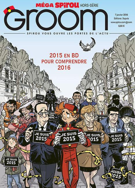 Spirou : GROOM est sorti le 7 janvier et décrypte l'actualité de 2015 en BD | Images fixes et animées - Clemi Montpellier | Scoop.it