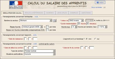Logiciel gratuit 2011 Calcul du Salaire des Apprentis en Entreprise | Time to Learn | Scoop.it