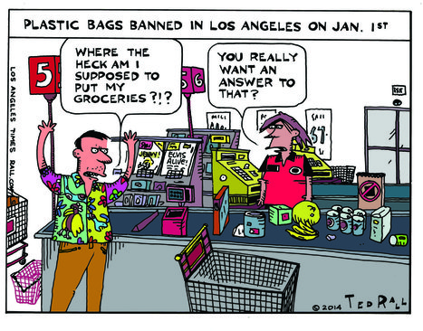 Hey, LA shoppers, what would you pay for a plastic bag now? - Los Angeles Times | It's in the bag | Scoop.it