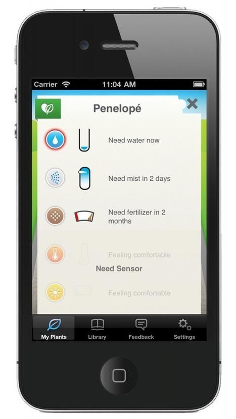 Koubachi : Une surveillance de vos plantes via Wifi et Smartphone | Soho et e-House : Vie numérique familiale | Scoop.it