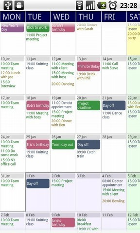Touch Calendar - applications pour Android d'AppBrain | Android Apps | Scoop.it